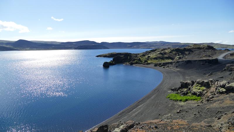 Circuit guidé en Islande, lac Kleifarvatn dans la péninsule de Reykjanes