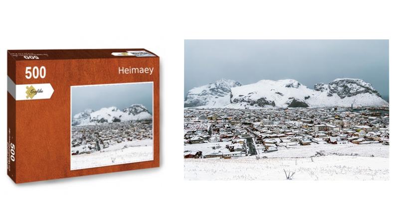 Heimaey, puzzle 500 pièces, par Jean-Yves Petit