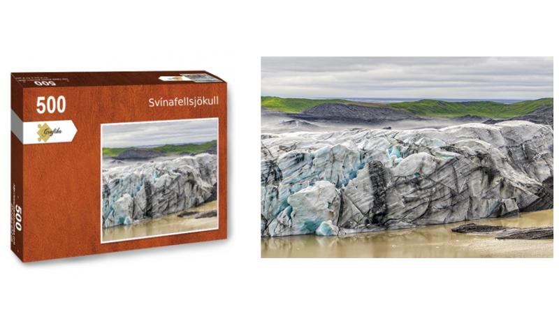 Svinafellsjokull, puzzle 500 pièces, par Jean-Yves Petit