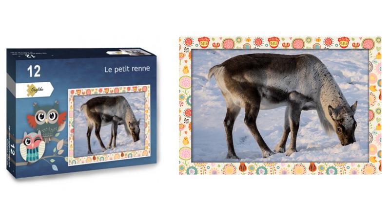 Le petit renne, puzzle 12 pièces XXL, par Jean-Yves Petit