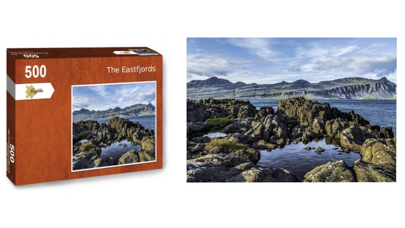 The Eastfjords, puzzle 500 pièces, par Jean-Yves Petit