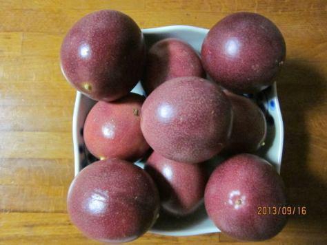パッションフルーツの実