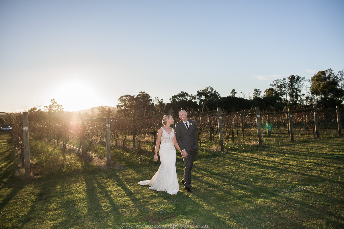 Wedding at Immerse in the Yarra Valley sunset