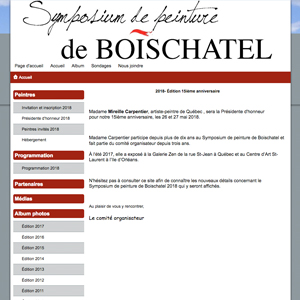 Symposium de peinture de Boischatel