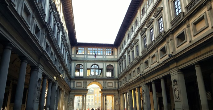 Outside the Uffizi Gallery