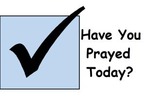 Prayer checkbox