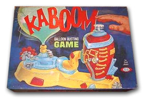 1965 Kaboom Balloon Bursting Game By Ideal Toy Corporation