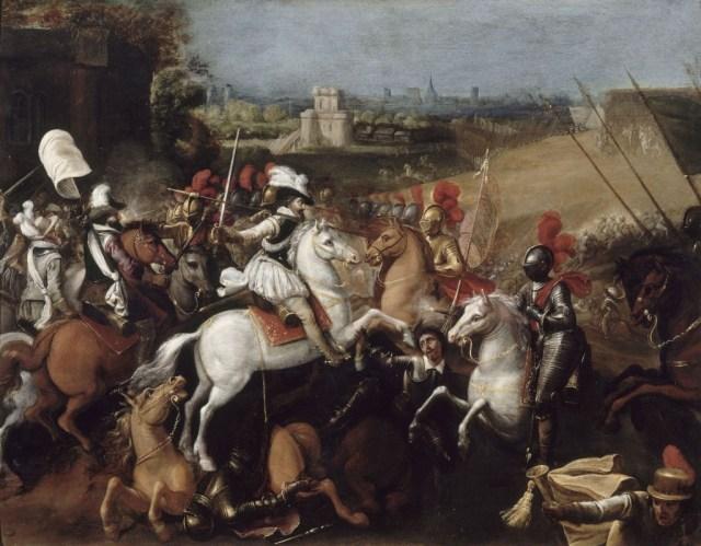 Henri IV à la bataille d'Arques. Musée national du château de Pau