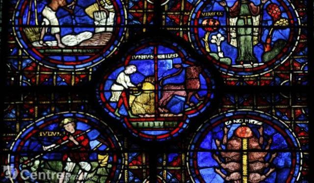 Les signes astrologiques à la cathédrales de Chartres