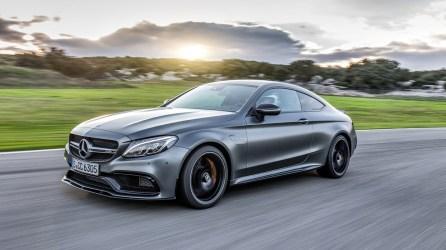 Mercedes-AMG C 63 S Coupe; Fahrvorstellung Malaga 2015; selenit grau magno ; AMG Nappa schwarz,