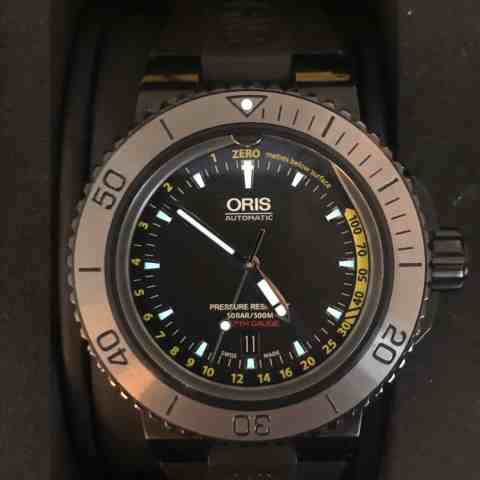 Oris Aquis Depth Gauge Ref 01 733 7675 4754-Set RS