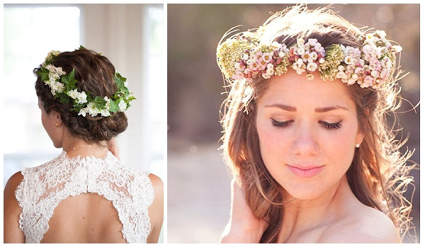 FLOWER CROWNS WEDDING HAIR INSPIRATION