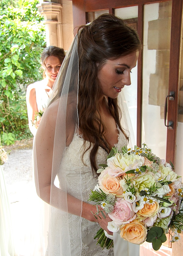 PEACH AND PINK WEDDING BOUQUETS Amp FLOWER CROWNS A