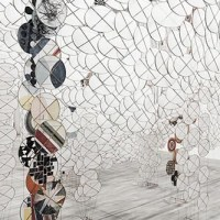 Jacob Hashimoto's floating tapestries