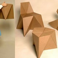 Foldschool DIY cardboard furniture for kids