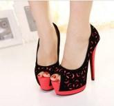 2014-NEW-Zapatos-Mujer-Sexy-Womens-Stilettos-Platform-Red-Bottom-High-Heel-Pumps-Ladies-Shoes-Peep