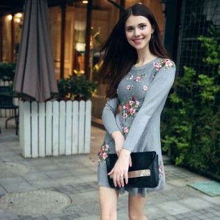brand-runway-sweater-dress-2015-women-fashion-winter-long-sleeve-plus-size-floral-embroidery-wool-knitted