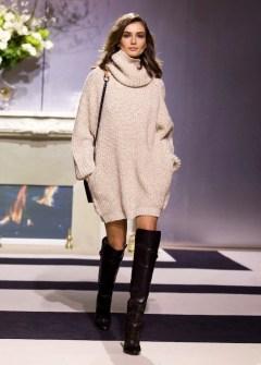 le-fashion-blog-model-andreea-diaconu-cowl-neck-turtleneck-sweater-dress-over-the-knee-boots-hm-fw-2013-paris