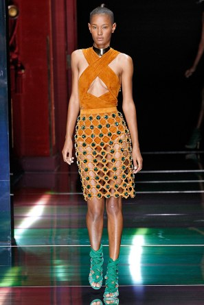 fashion-2016-02-balmain-spring-2016-runway-orange-suede-halter-top-dress-skirt-main