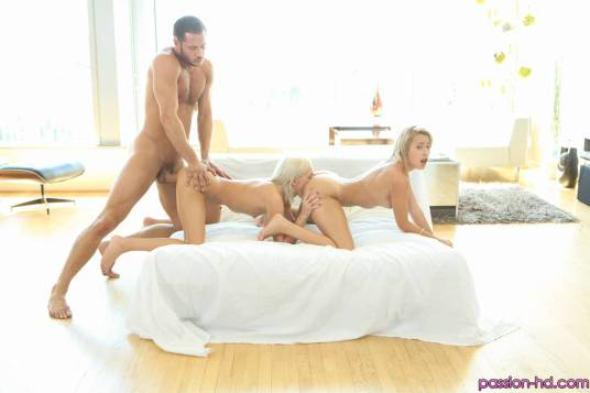 Passion HD Kacey Jordan & Marina Angel in Sexy Pillow Fight 12