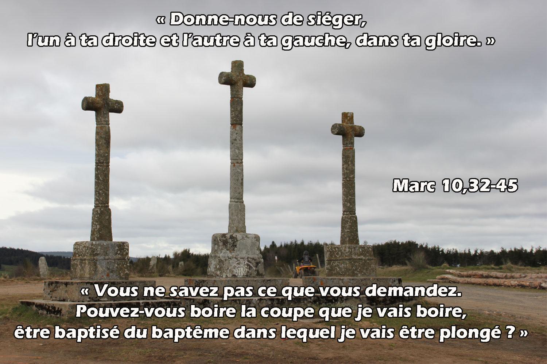 Commentaire de Marc 10,32-45.