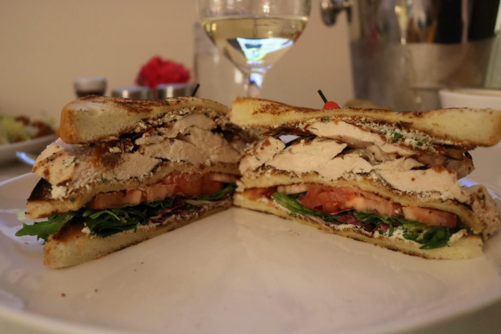 Room service club sandwich