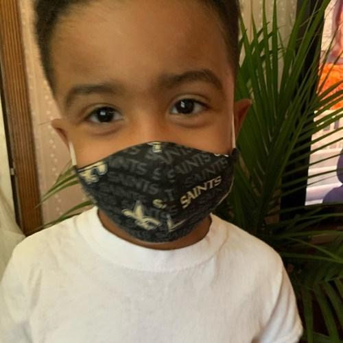 New Orleans Saints Toddler Kids Face Mask