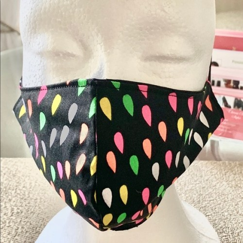 Multi Color Black and Pink Face Mask