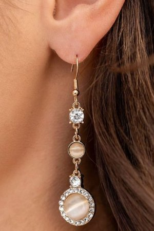 Epic Elegance Gold Earrings
