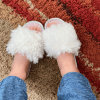 Women Fuzzy Indoor House Slippers, Birthday Gift for Her, Bridesmaid Gifts, Wedding Shoes