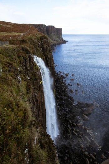 A waterfall in the Isle of Skye