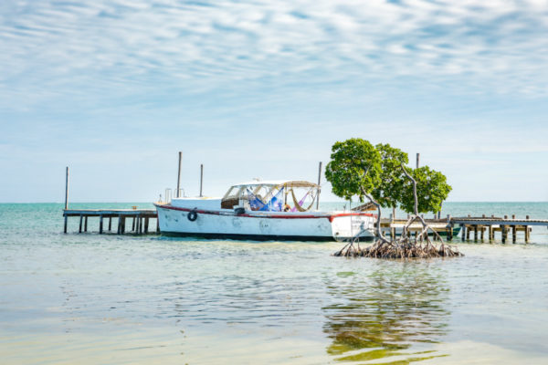 A dock in Belize, one of the world's most beautiful destinations