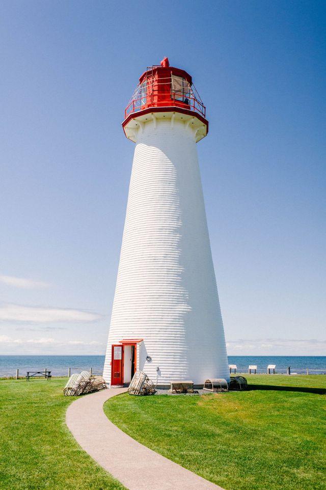 Point prim lighthouse on prince edward island.