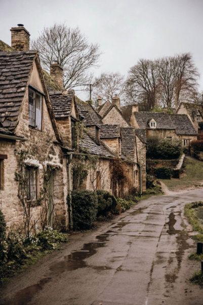 row of houses in rural britain