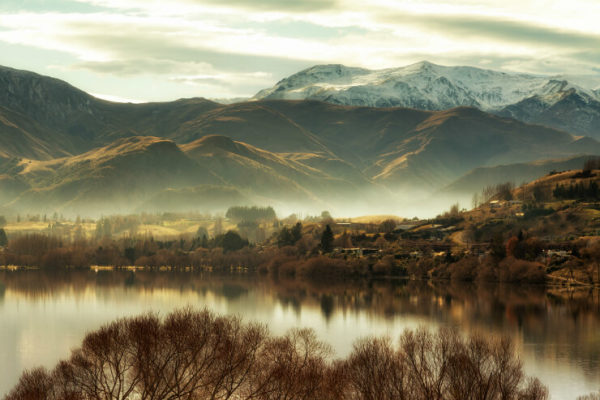 Misty morning over Lake Hayes, Queenstown
