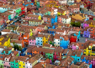 Color Houses in Burano, Italy
