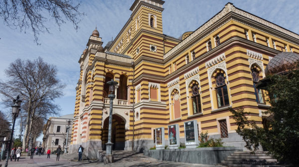 Tbilisi travel guide: the city's famous Opera House.