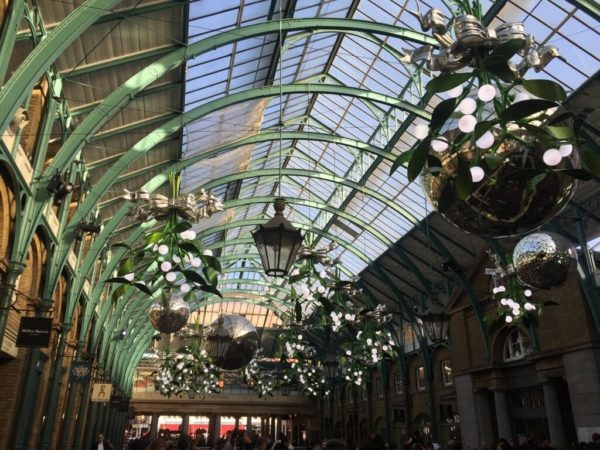 Covent Garden's Apple Market at Christmas