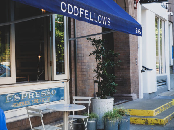 oddfellows restaurant patio and awning