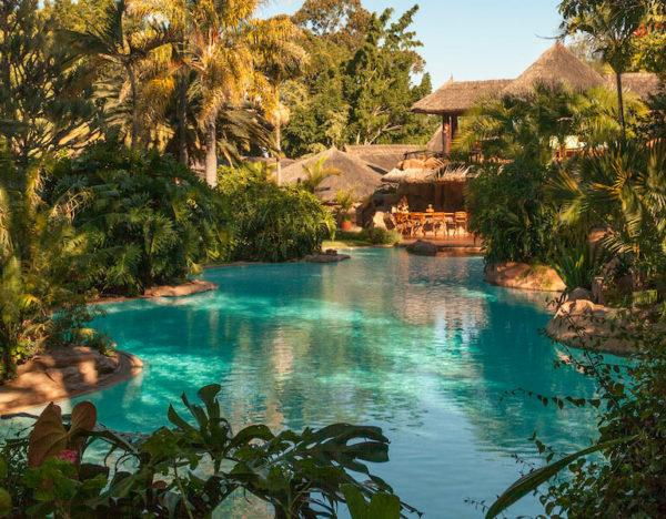 peaceufl pool at Ol Jogie lodge in Kenya
