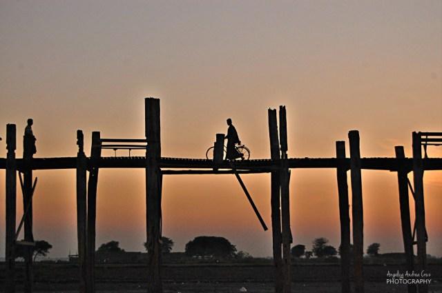 Sunset in Amarapura, Mandalay