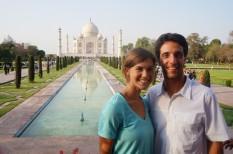Kat & Mike at the Taj Mahal, India