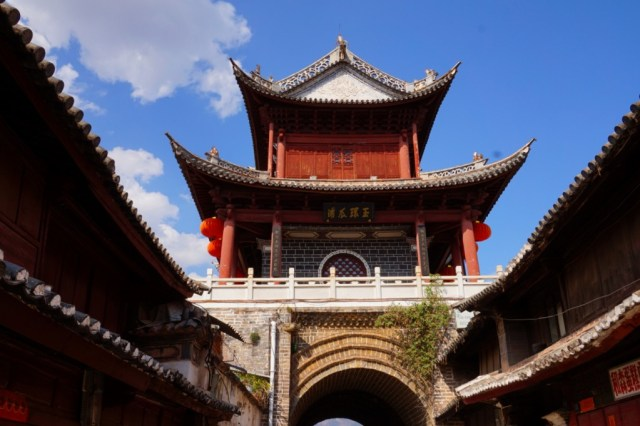 The Xingcheng Tower, built in 1380, in the heart of Weishan