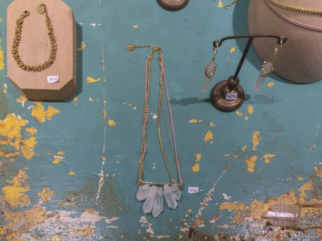 Jewelry on display in D-lirio