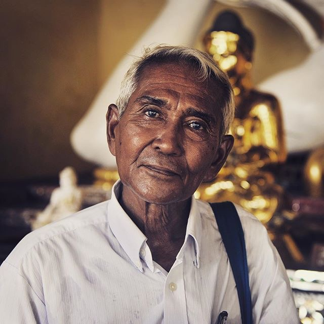Portrait in Schwedegan Pagoda, Yangon, Myanmar