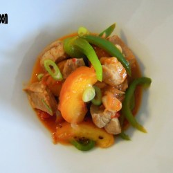 Peachy pork