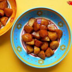 Caramelized potatoes.