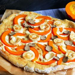 Truffle pumpkin pizza.