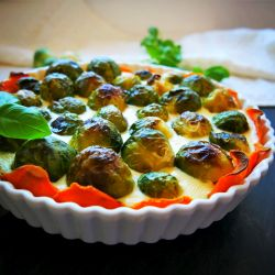 Sweet potato crust tart.