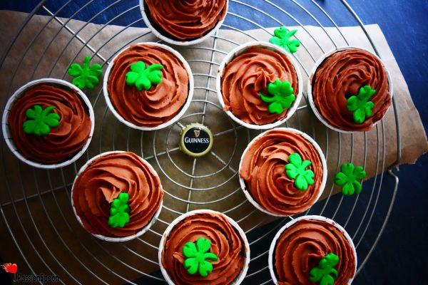 Chocolate ganache beer cupcakes